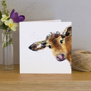 Inky Cow Blank Greeting Card