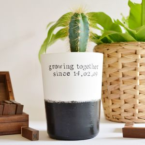Personalised 'Growing Together Since' Plant Pot