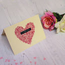 Embroidered Valentine's Card