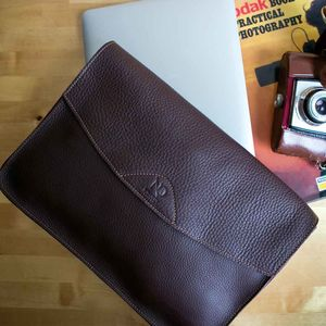 Italian Leather Tablet, Laptop And Document Case