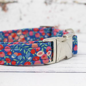 Lulu Liberty Fabric Dog Collar