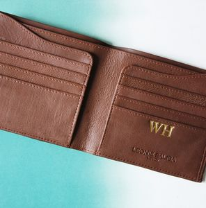 Personalised Gift Luxury Billfold Wallet