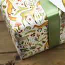 Woodland Creatures Christmas Wrapping Paper Set