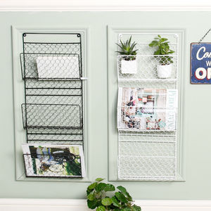 Contemporary Three Compartment Magazine Rack - storage & organisers