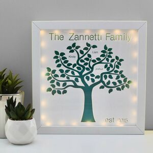 Personalised Family Tree Light Up Picture