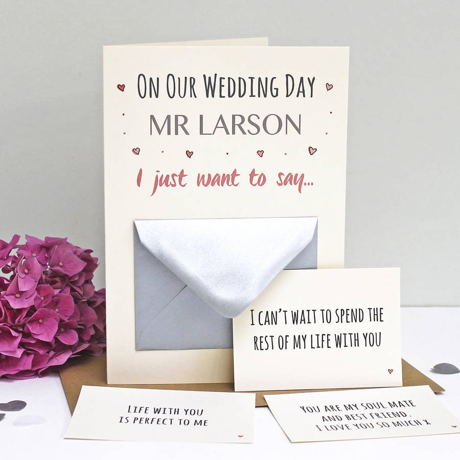'On Our Wedding Day' Secret Messages Card
