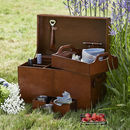 Leather Picnic Trunk