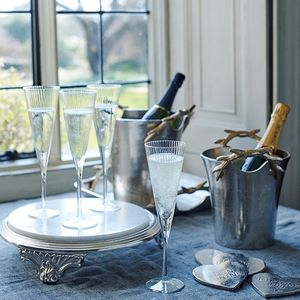 Antler Drinks Bucket With Elegant Champagne Flutes