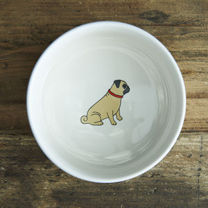 Pug Dog Bowl - food, feeding & treats