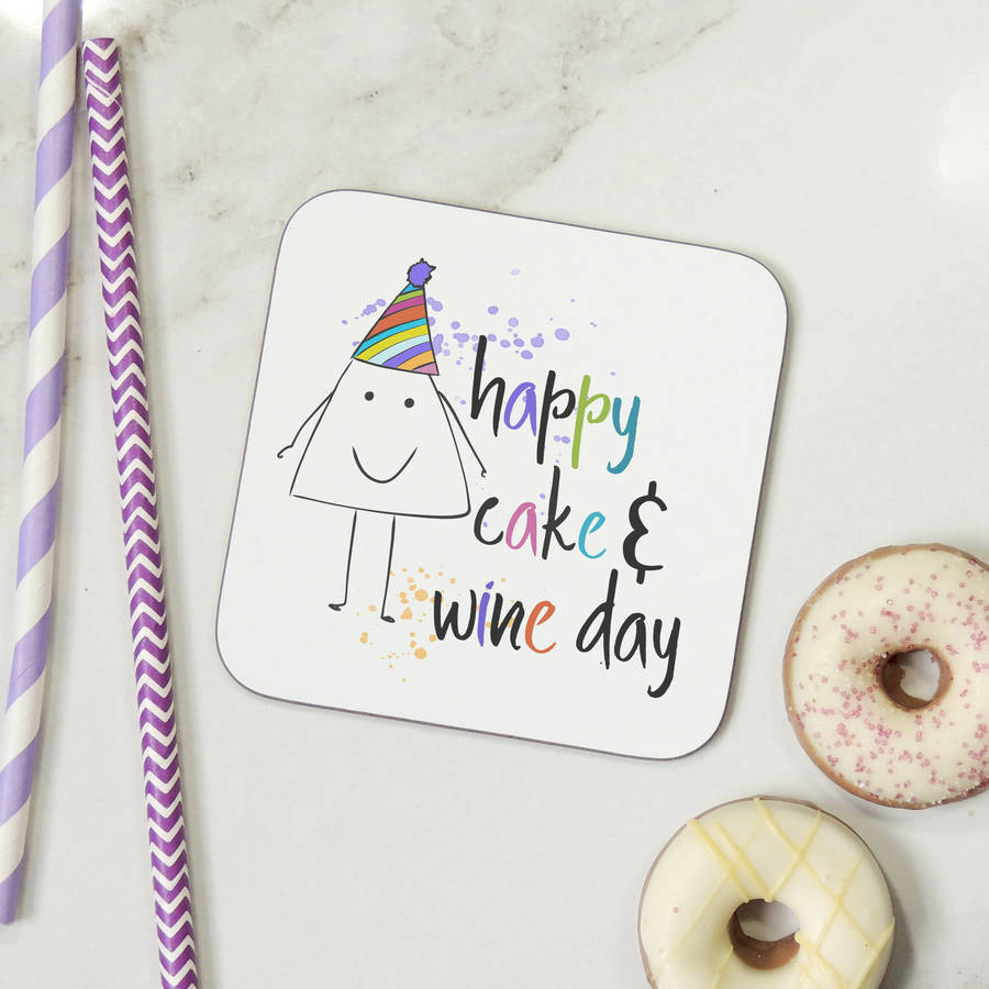 Happy Cake And Wine Day Funny Birthday Card