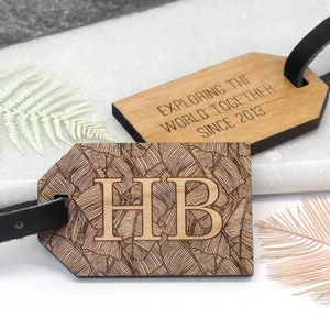 Personalised Palm Leaf Luggage Tag - gifts for friends