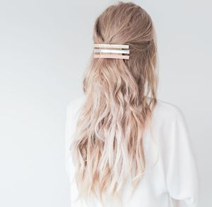 Long Metal Hair Clip - hair accessories