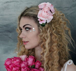 Pale Pink Floral Hairclip - whats new