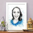 Portrait Personalised Watercolour Painting Illustration