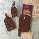 Brown Passport Cover Luggage Tags