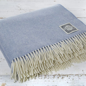 Parma Violet Luxury Merino Throw - blankets & throws