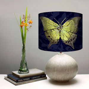 Yellow Butterfly Botanical Print Lampshade