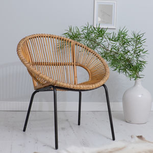 Bamboo Tub Chair Choose From Two Colours - scandi home decor