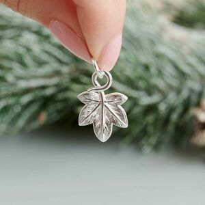 Ivy Leaf Silver Bracelet Charm, Necklace Or Bracelet