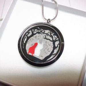 Red Riding Hood Large Papercut Pendant