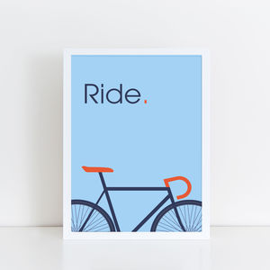 Ride Bicycle Print - new in prints & art