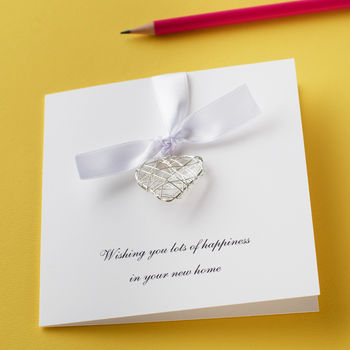 Personalised New Home Wire Heart Card