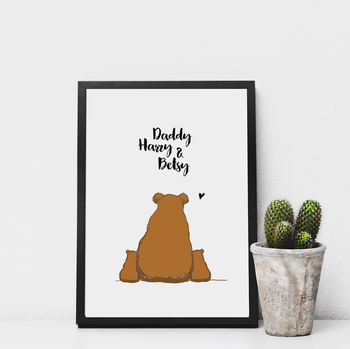 Daddy And Baby Bears Print
