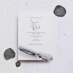Watercolour And Rose Gold Foil Invitations