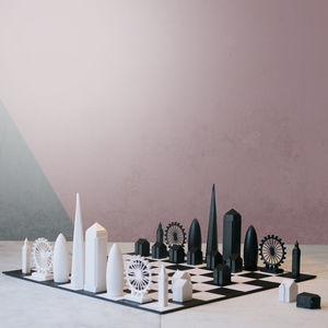 London Skyline Architectural Chess Set - gifts for grandparents