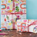 Christmas wrapping paper Joy to the world