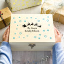 Personalised Sleigh And Snowflakes Christmas Eve Box