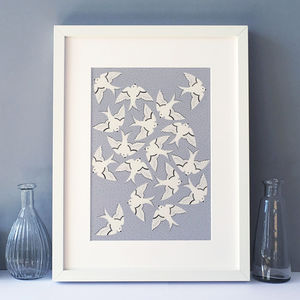 Birds Art Print, Illustration, Wall Art - shop by price