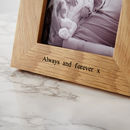Personalised Solid Oak Photo Frame