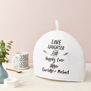 Personalised Love And Laughter Tea Cosy
