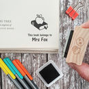Teacher Personalised Book Rubber Stamp Gift