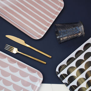 Patterned Melamine Tray - trays