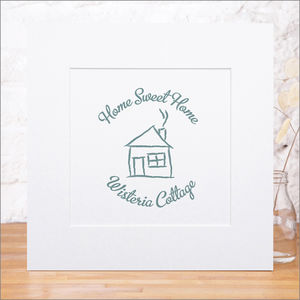 Personalised 'New Home' Print