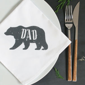 Personalised Polar Bear Christmas Napkin - tableware