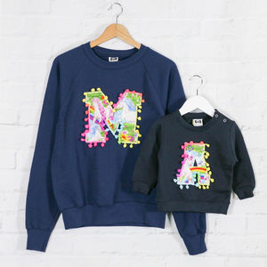 Mother And Child Personalised Unicorn Sweatshirt Set - sweatshirts & hoodies