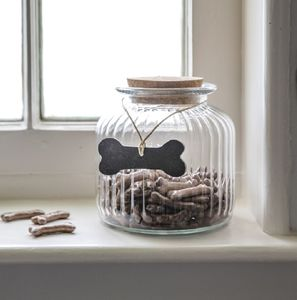 Pet Treat Jar With Tag