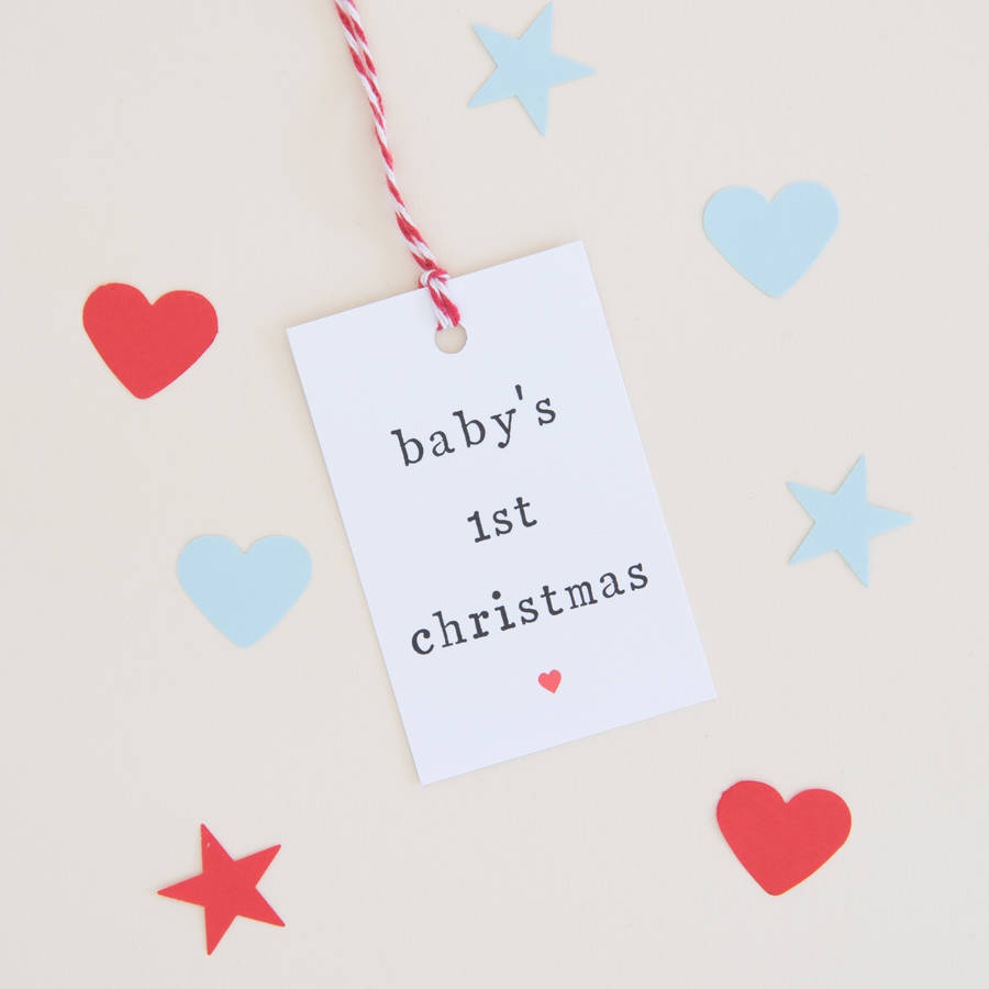 Baby S First Christmas Gift Tag