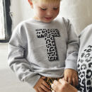 Animal Letter Kids Sweatshirt