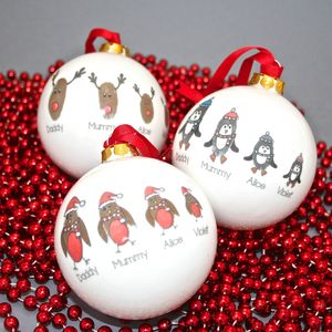 Personalised Family Fingerprint Bauble