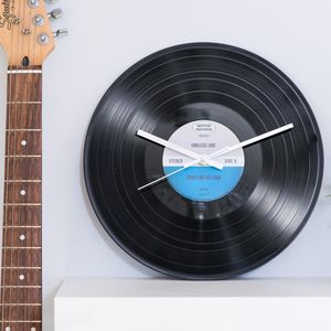 Personalised Limited Edition Vinyl Record Clock - gifts for him