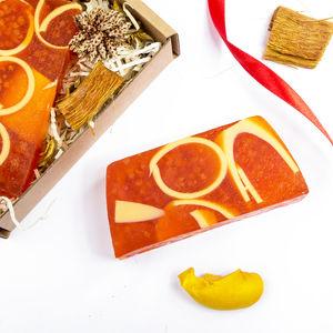 Festive Handmade Caramel Soap Bar