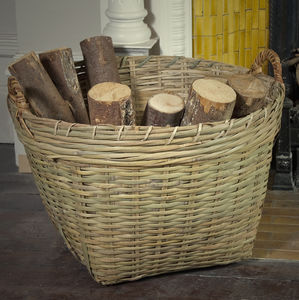 Bamboo Round Log Basket