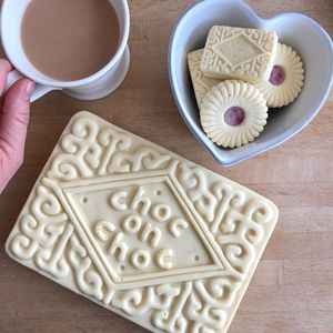 Giant Custard Cream Biscuit Shaped Chocolate - gifts for her