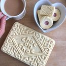 Giant Custard Cream Biscuit Shaped Chocolate