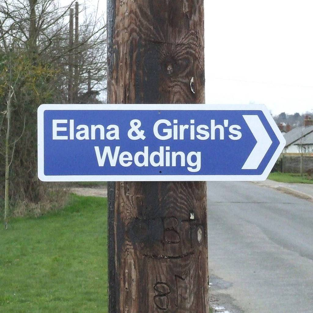 Personalised Wedding Sign By England Signs