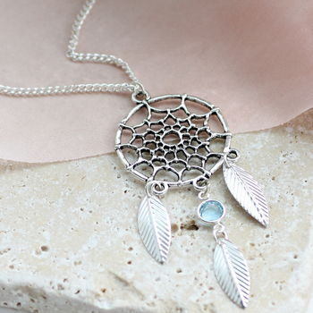 Dreamcatcher Birthstone Necklace